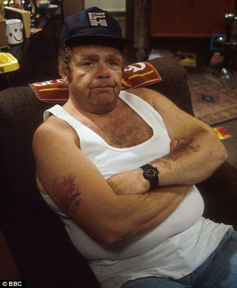 Comic timing: Geoffrey Hughes, pictured as Onslow in Keeping Up Appearances, has died at the age of 68