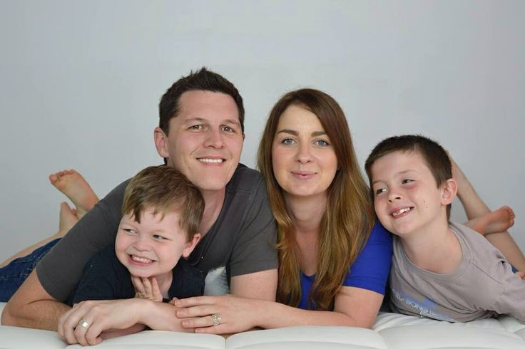 Family portrait in the studio with aperture images