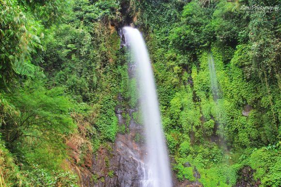 "Waterfall ""Curug Silawe"" Indonesian"