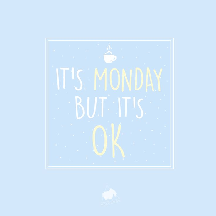 It's monday but it's ok #monday #quote #lundi #moodoftheday // www.monpolochon.com