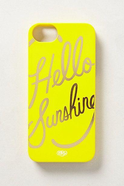 hello sunshine iphone 5 case #anthrofav #greigedesign
