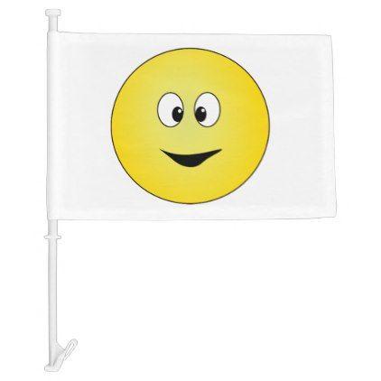 #Cross Eyed Smiley Face Car Flag - #emoji #emojis #smiley #smilies