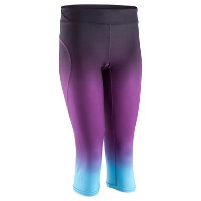 DECATHLON Purple & Turquoise Running Tights