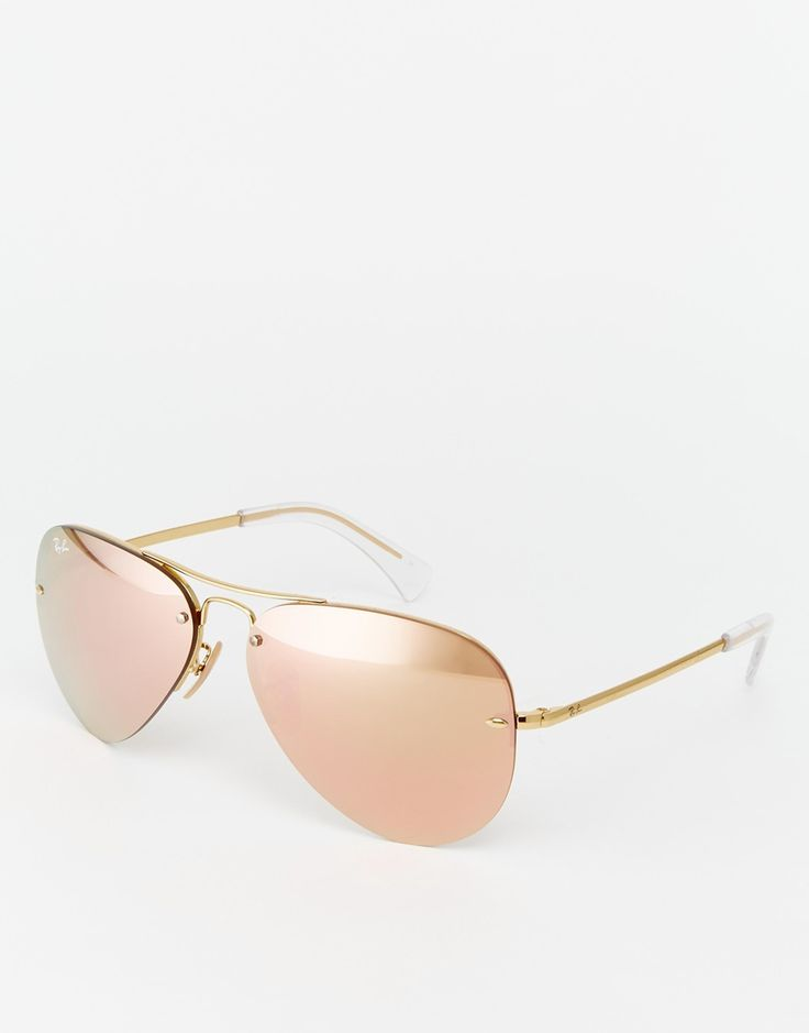 ray ban aviator crystal rose