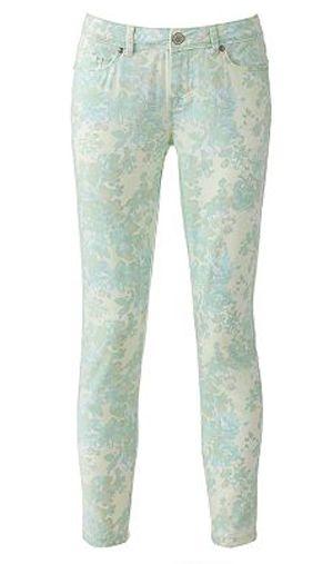 LC Lauren Conrad printed jeans {too cute}