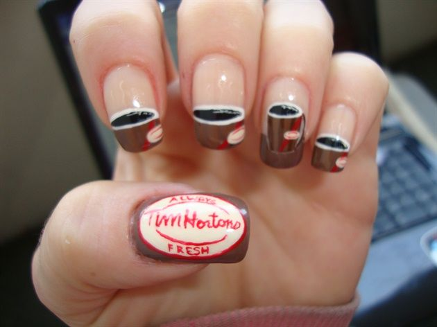 Tim Hortons coffee #nail #nails #nailart