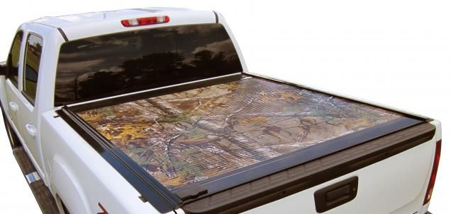 Realtree Camo Truck Bed Covers by Retrax|  he RetraxONE is unique because it is manufactured from polycarbonate, a durable thermoplastic commonly known as LEXAN®. Sealed ball-bearing rollers mounted onto aluminum support beams allow the cover to retract or close easily without the use of springs, pull straps, Velcro or snaps. The RetraxONE is also key lockable in any position along the rail. #RealtreeXtra