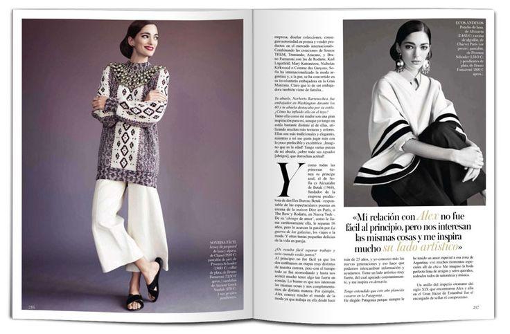 Sofia Sanchez Barrenechea for Vogue Spain by Victor Demarchelier. Sofia Sanchez de Betak for Vogue Spain by Victor Demarchelier.