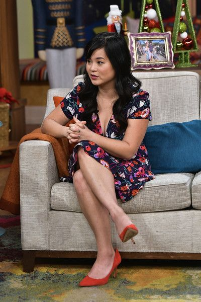 Kelly Marie Tran  is seen on the set of 'Despierta America' to promote the movie Star Wars: The Last Jedi at Univision Studios on December 7, 2017 in Miami, Florida.