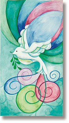 Stained Glass Dove Banner - I keep coming back to this. No idea how I'd make it, but it's just so beautiful