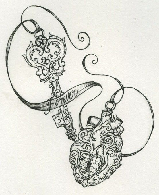 Lock and Key tattoo... Maybe add a string and a lock to THE key?