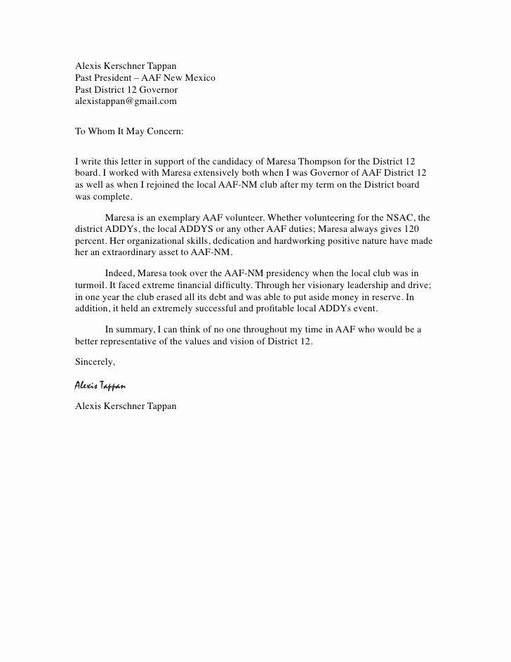 Letter Of Recommendation For Volunteer New Sample Volunteer Re Mendation Letter Template Ar Reference Letter For Student Job Cover Letter Work Reference Letter