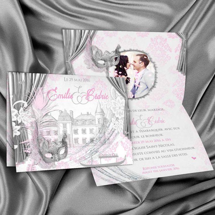 Venise, la belle Venise, thème de votre faire-part de mariage - Créationata Le…