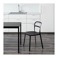 IKEA - REIDAR, Stol, inom-/utomhus, Stol helt i aluminium som tål att stå ute året runt.Hålen i sitsen dränerar bort regnvattnet.Du kan…