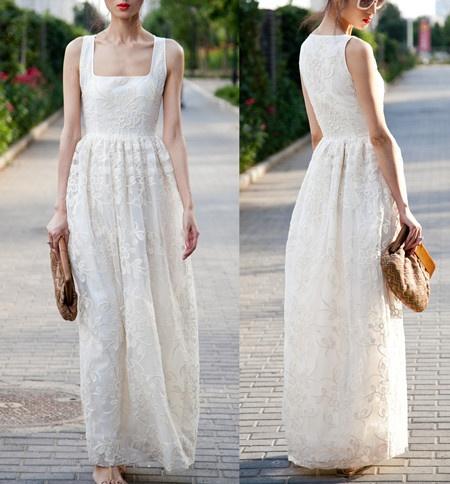 Long White Dress Pha Order Of The Eastern Star