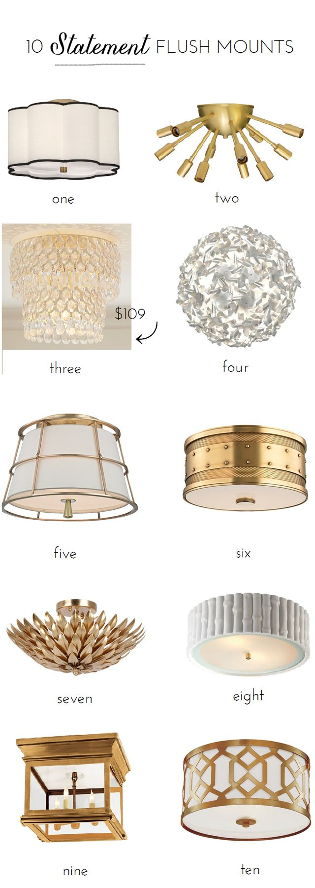 Have lower ceilings? 10 Flush mount lighting options that make a statement.