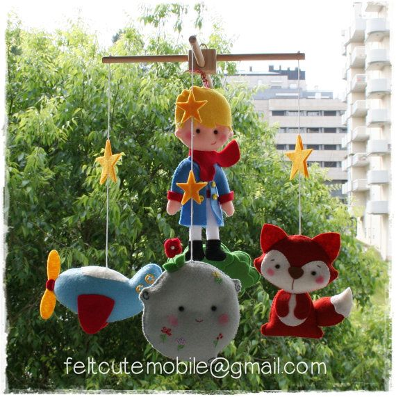 Baby Crib Mobile Baby Mobile The Little Prince by feltcutemobile