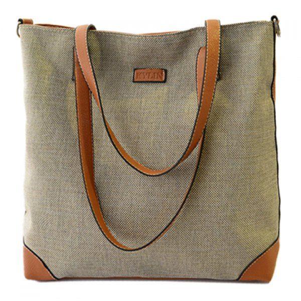 Wholesale Retro Splice and Canvas Design  Women's Shoulder Bag Only $5.91 Drop Shipping | TrendsGal.com