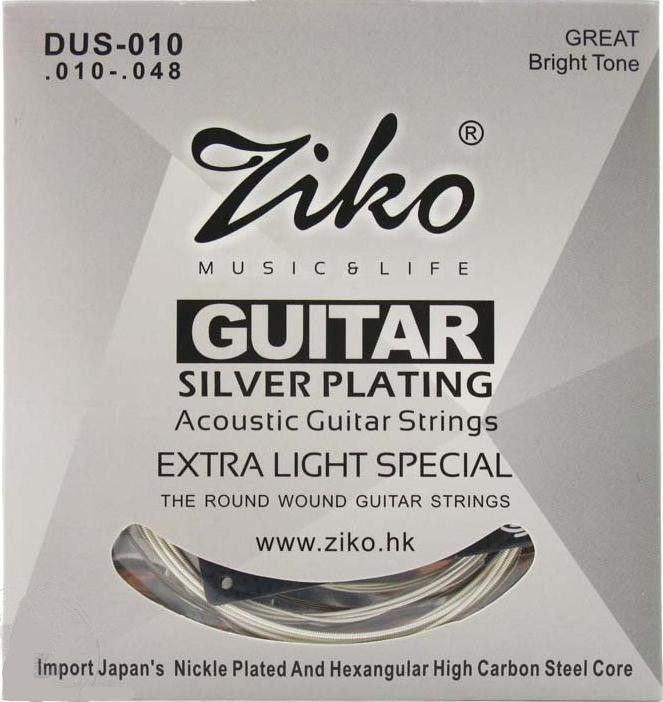 ZIKO 010-048 DUS-010 Acoustic guitar strings silver plating guitar parts musical instruments Accessories