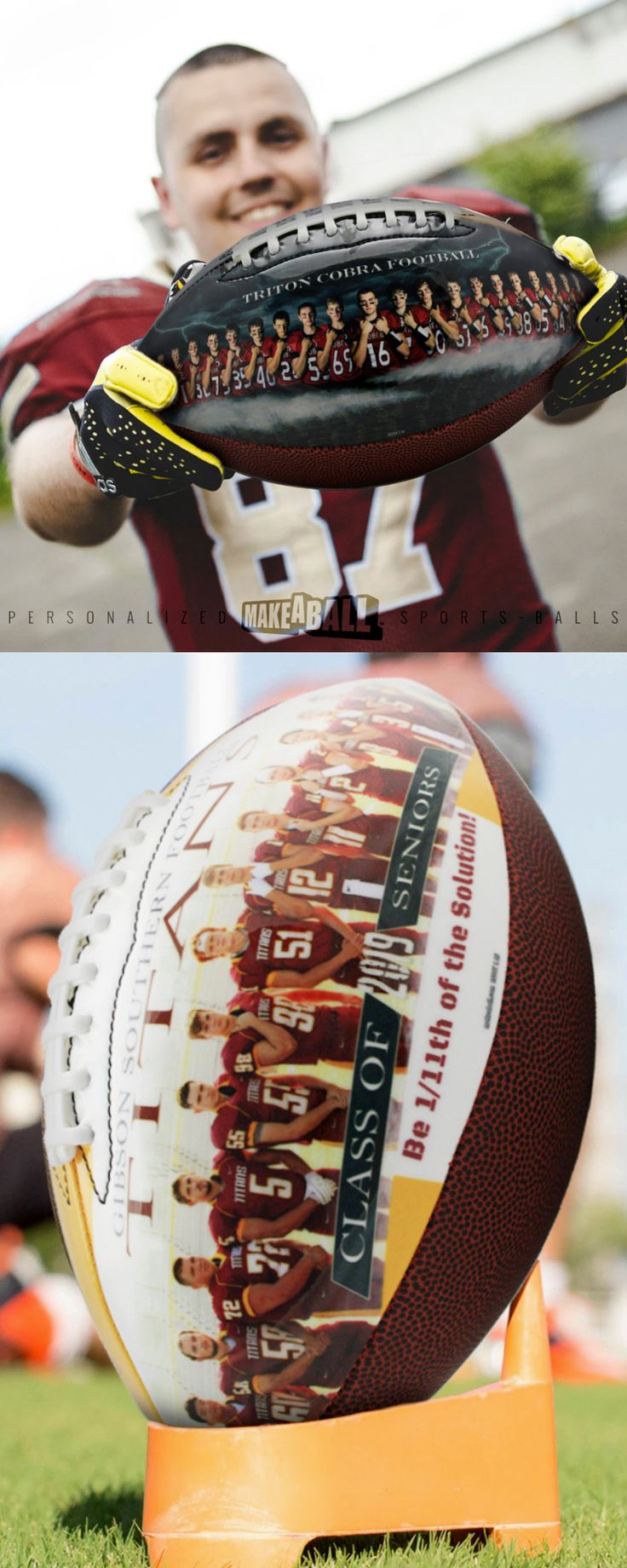 Design your own football with personal photos, text, and graphics. The panel that contains the design has a full, smooth and glossy finish. They make …