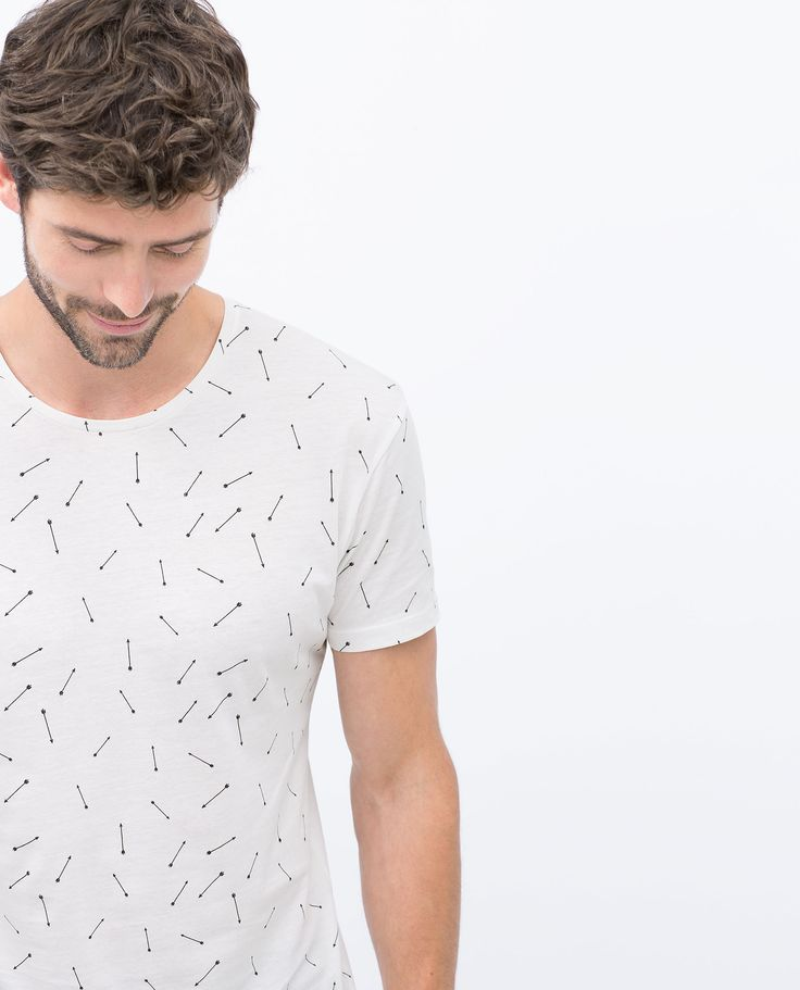 ZARA - MAN - MICRO-PATTERN T-SHIRT