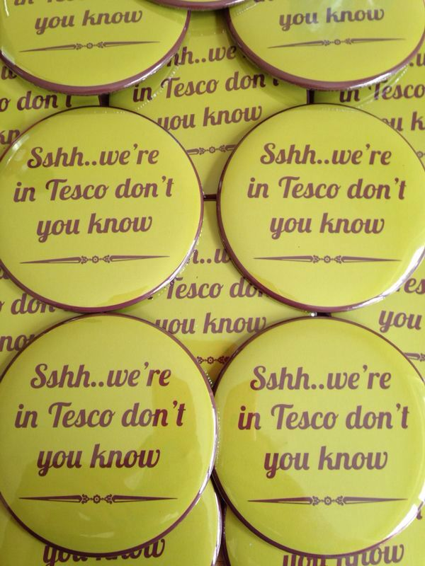 Have you seen these #tesco #pinbadges in store yet? Why not order your #buttonbadges online at www.badgeboy.co.uk and showcase your #badges