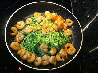 Wessels Küchenwelt: Zucchini-Spaghetti mit Garnelen