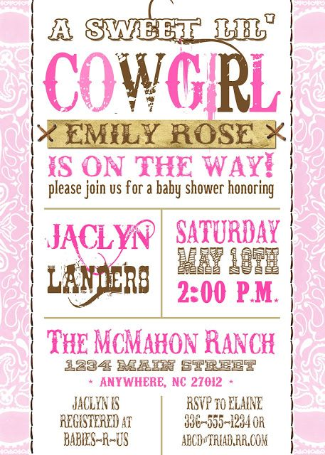 Meghily's: WESTERN BABY SHOWER