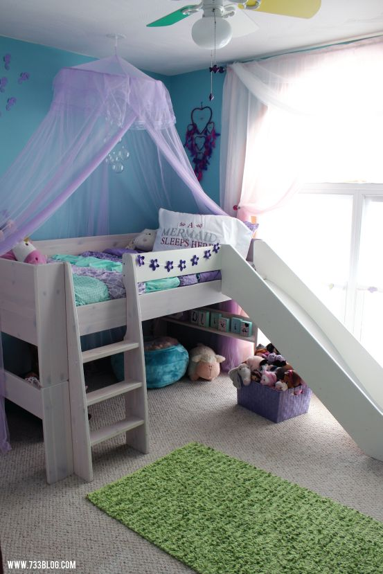 Little Girl's Mermaid Themed Room #cricutdesignspacechallengefinals