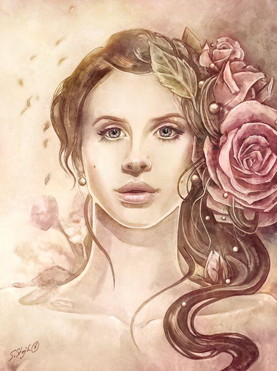 Portrait Lana del Rey by Sylvia Strijk