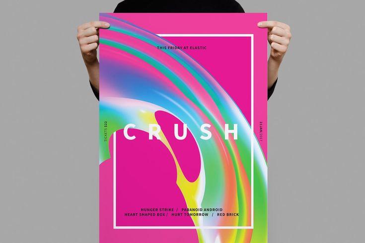 Crush Poster / Flyer Template PSD - A3