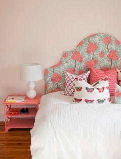 Habitaciones para adolescentes color coral