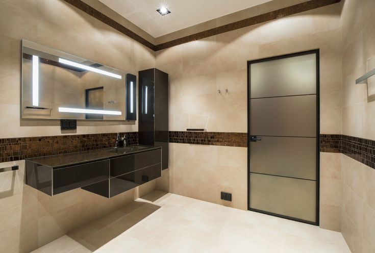 Современный стиль ванной комнаты в стиле минимализм. #современная_ванная_комната #стиль_минимализм #большая_ванная_комната