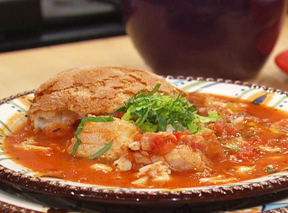 Crab and Cod Cioppino recipe -Rachael Ray.