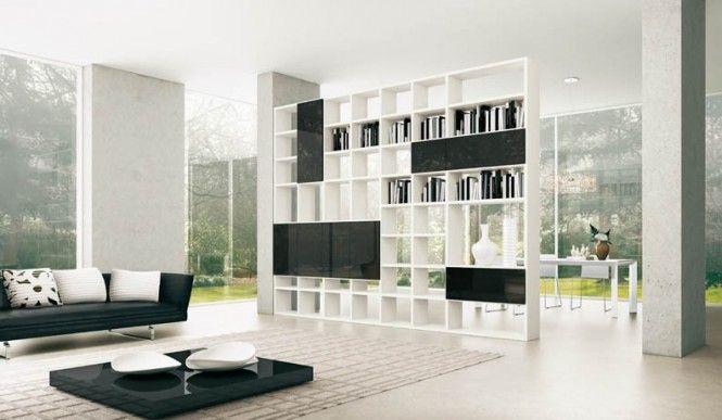 Shelves Black and White Open