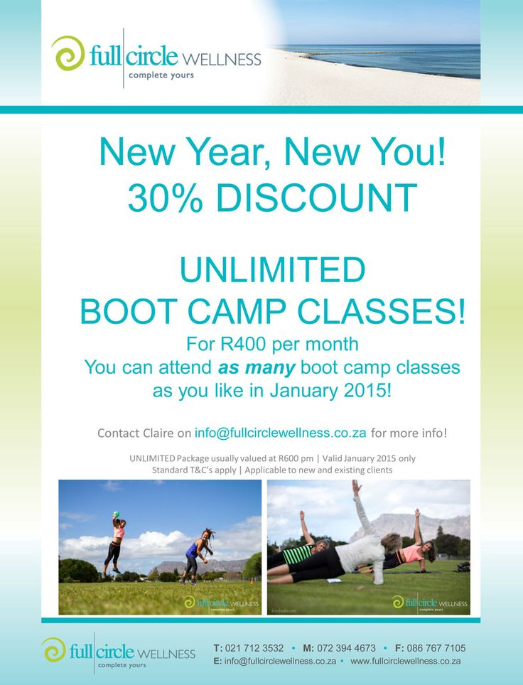 2015 | New Year, New You – 30% DISCOUNT ON BOOT CAMP CLASSES FOR JANUARY 2015!