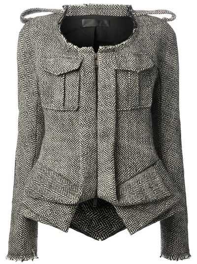 I LOVE everything about this jacket, except the price tag of $2,500. HAIDER ACKERMANN Herringbone Print Jacket