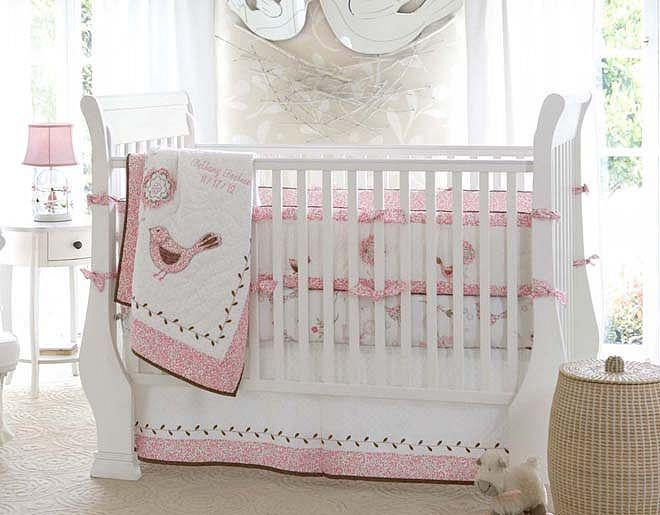 I love the Pottery Barn Kids Birdie Nursery on potterybarnkids.cm. Pink and brown