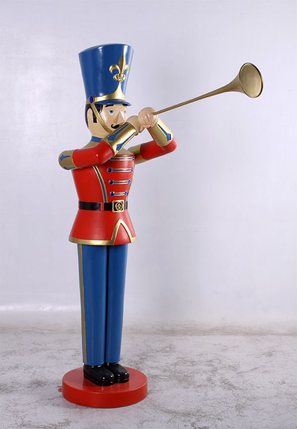Bugle Horn Costume Accessory Christmas Holiday Caroler Toy Soldier Nutcracker