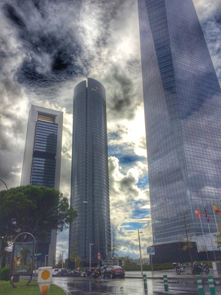 Black clouds and towers