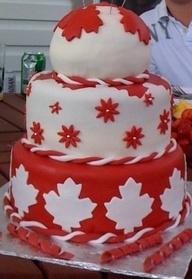 Canada Day Cake - very pretty!