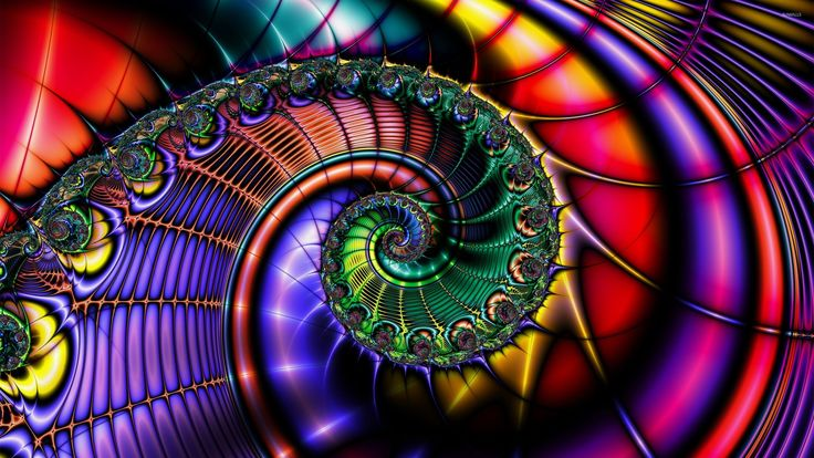 fractals Colorful | Pics Photos - Download 2560x1440 Colorful Fractal Street Night Hd ...