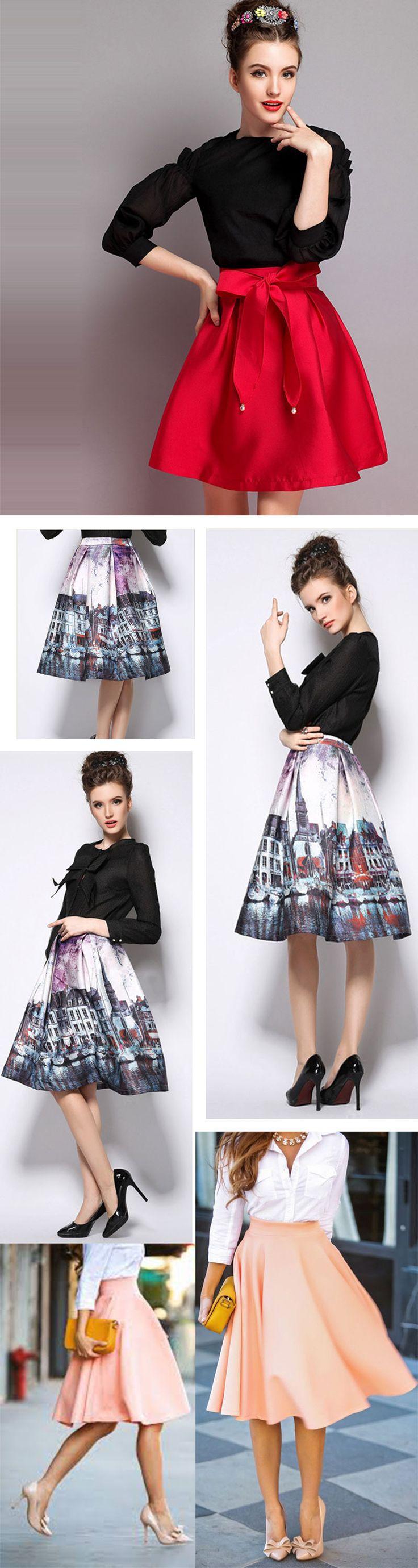 Fashion Women Knee Length Skirt, Popular Styles