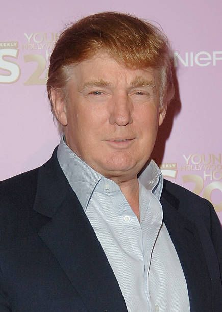 Donald Trump during US Weekly's Young Hollywood Hot 20 September 16 2005 at LAX in Hollywood California United States