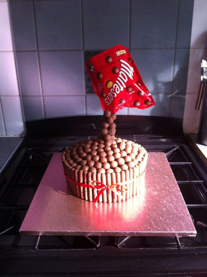 Anti gravity cake for birthday