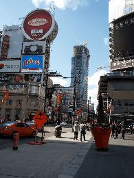 Timelapse of the Aura Condo from Dundas Square