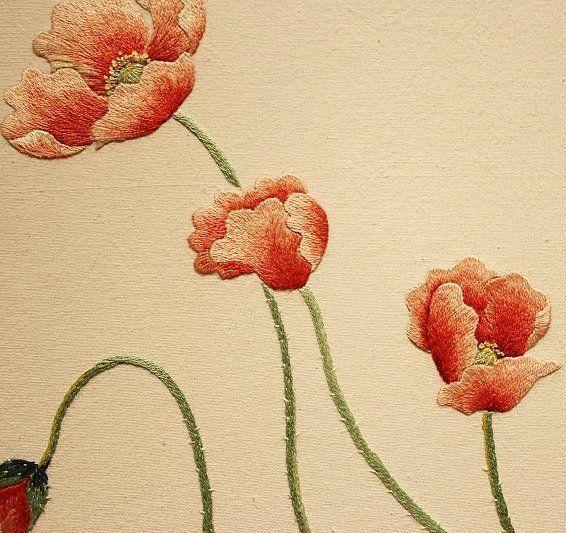 #야생화자수 #양귀비 #두메양귀비 #꿈소 #꿈을짓는바느질공작소 #embroidery #poppy