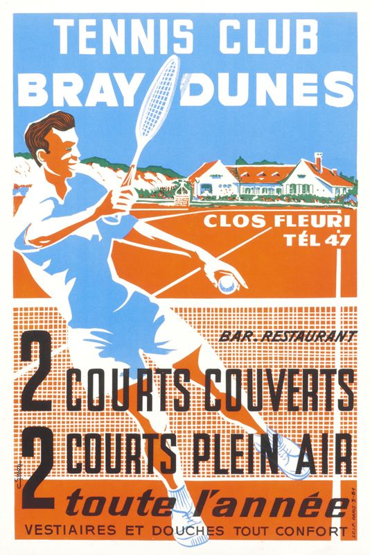 C. Guion Poster: Tennis Club Bray Dunes