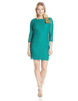 14 (US Size) (US Size), Emerald, Adrianna Papell 41864780 Tunic Women's Dress NE