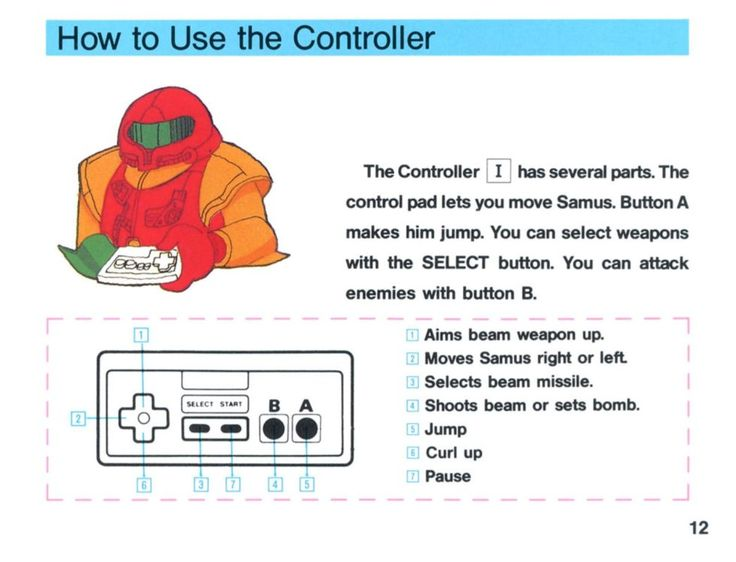 From the NES printed manual